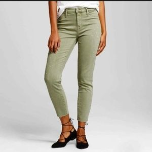 Mossimo NWT High Rise Jegging Crop Green Jeans 4
